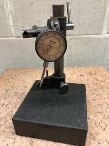 Mitutoyo Dial Indicator 001 2416 Granite Base Stand Starrett Tool Post Holder
