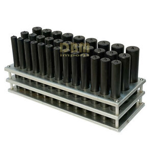 33 Pc Transfer Punch Set 1 2 To 1 By 64th With Storage Rack