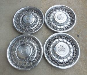 15 1975 1985 Cadillac Fleetwood Seville Wire Type Hubcaps Wheel Covers