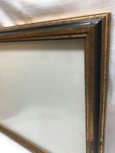 Vintage Wood Gold Large Wooden Picture Frame Measures 17 X 13 Mid Century