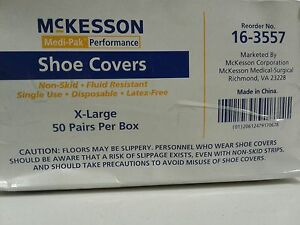 Mckesson Non skind Hospital Booties Shoe Covers Disposable Xlarge 50 Pairs
