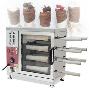 Roll Chimney Cake Oven Make Cook Food Machine Bread Baking 110v With 8pcs Handle