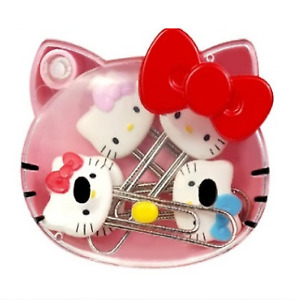 Hello Kitty Face Paper Photo Clip Small Mini Cute Paper Clip Book Mark 1box 5p