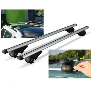 Adjustable 53 Car Suv Aluminum Roof Racks Crossbar Top Carrier Rail With Lock