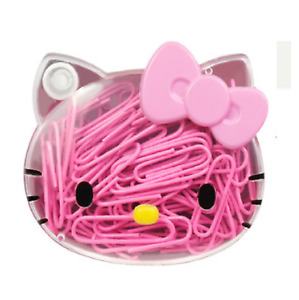 Hello Kitty Paper Photo Pink Clip Small Mini Cute Paper Clip Book Mark 80p