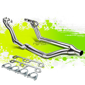Metallic Long Tube Exhaust Manifold Header For 96 01 Ram 1500 3500 5 2 5 3 5 9l