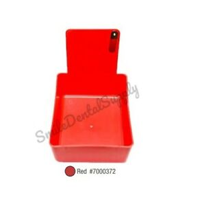 Dental Laboratory Working Case Plastic Pan Tray With Clip Holder 12x Red Pans