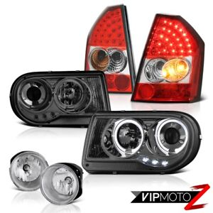 08 10 Chrysler 300c Srt8 Headlamps Angel Eye Led Signal Tail Lights Driving Fog