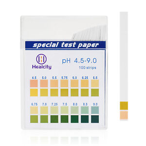 2x Ph Test Strips 100ct Potential Hydrogen Papers Ph Scale 4 5 9 0