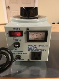Variac Variable Transformer