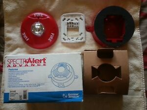 System Sensor Spectralert Advance Scrk Outdoor Fire Alarm Red Ceiling Strobe