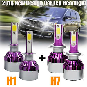 For Hyundai Elantra Sonata Cree Led Headlights H7 h1 Combo Kit 1800w Bulb Hi low