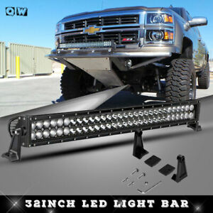 32 Led Light Bar 4x4 Off Road Jeep Gmc Bronco Chevy Toyota Ford Fog Light 30