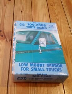 Nos Vtg Kd White Low Mount Mirror Set Classic Pickup Small Truck 109 7308 Datsun