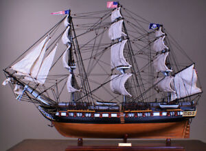 Uss Constitution 36 Wood Ship Model Sailing Tall American Navy Boat