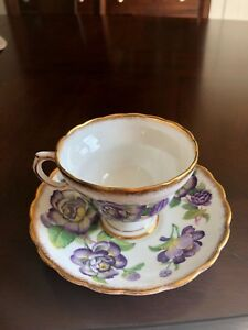 Vintage Rosina Fine Bone China Tea Cup Saucer Set Made In England