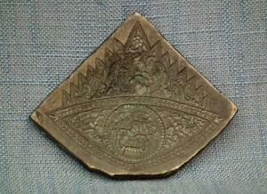 Large Antique Indian Bronze Jewelry Mold Die Stamp Seal 18th 19th Century India