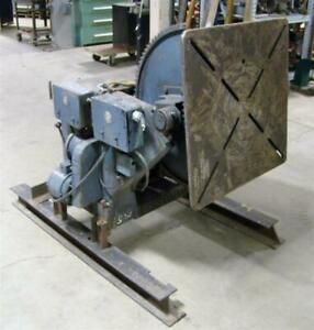 Ransome Welding Positioner Size 25 cap 2500 Lbs 3 ph 220 440 1hp