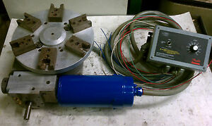 Motorized Rotary Indexing Table W Danfoss C Cycletrol 2000 Controller 12 Dia