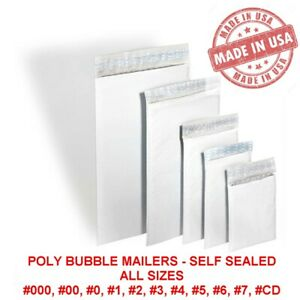 Poly Bubble Mailers Padded Envelopes 0 1 2 3 4 5 6 7 00 000 Usa Made