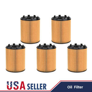 Set Of 5 Oem Engine Oil Filter For Fiat 500 124 Spider Jeep Renegade 68102241aa