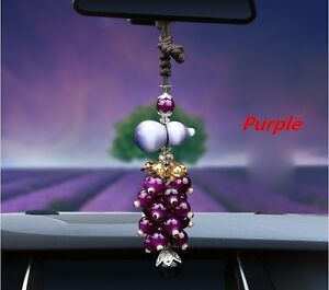 Purple Auto Car Rear View Mirror Pendant Calabash Decor Ornament Accessories