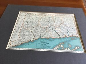 1935 Florida Connecticut 2 Side Map Rand Mcnally Premium Edition 11 X 14