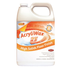 Acryliwax 25 High gloss Commercial Floor Finish Case Of 4 Gallons