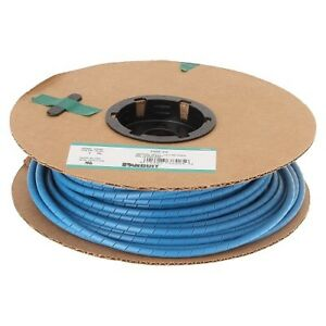 New Panduit Spiral Wire Cable Wrap T50f c6 Poly 1 2 Od Blue 100 Feet