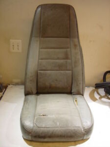 87 90 Jeep Wrangler Grey Front Seat Yj Solid Original 76 86 Jeep Cj High Back