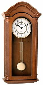 Wall Clock W Pendulum Carved Wooden Decorative Old Antique Retro Style Silent