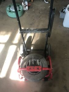 Used Drain Cleaning Machine Drain Snake Spartan Ridgid Duracable