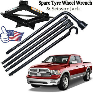 New 2018 Spare Tyre Wheel Wrench Scissor Jack For Dodge Ram 1500 2002 15 Truck