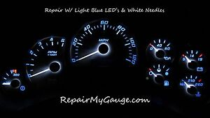 Chevy Silverado Speedometer Instrument Cluster Repair W light Blue Leds White