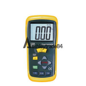 1pcs Cem Dt 612 Double channel Contact Digital Thermometer
