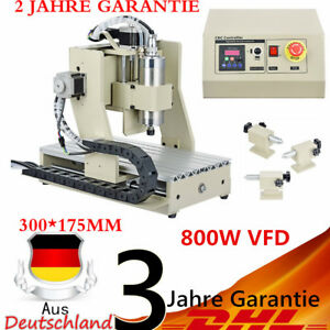 4 Axis 3020 Cnc Router Engraver Carving Machine Woodworking Cutter 800w Vfd New