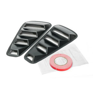Carbon Fiber Style Side Window Scoop Louver Cover 5 Vent For Ford Mustang 15 17