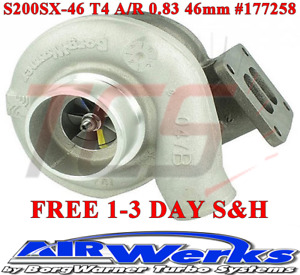 Borg Warner Airwerks S200sx Turbo 46mm T4 Twin Scroll 0 83 A R 220 580hp 177258