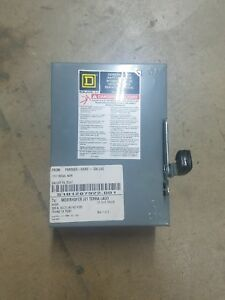 New No Box Square D Company D321n Safety Switch 220v 30a