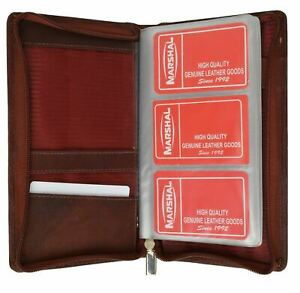 New 120 Sheets Business Name Id Credit Cards Holder Book Zipper Organizer Wallet