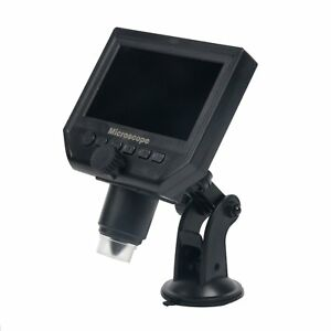 600x Digital Microscope 3 6mp Ccd With 4 3 Inch Lcd Display Screen Led Light