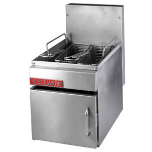 Gmcw Gf10 Counter Top 13lb Gas Fryer W Two Fry Baskets