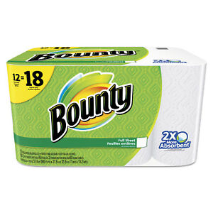 Bounty Perforated Towel Rolls 2 ply White 11 X 10 1 5 60 Sheets roll 12 Roll