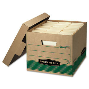 Bankers Box Stor file Extra Strength Storage Box Letter legal Kraft green 12