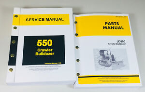 Service Parts Manual For John Deere 550 Crawler Bulldozer Repair Shop 550c Set