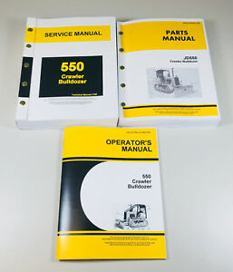 Service Parts Operators Manual For John Deere 550 Crawler Bulldozer Shop Set Oh