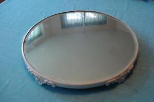 Kittens Vintage Art Nouveau Footed Beveled Plateau Mirror For Dressing Table