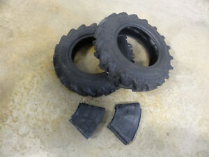 Two New 6 14 Atf Compact Tractor Lug Tires 6 Ply With Tubes