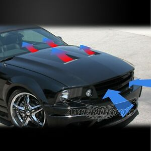 2005 2009 Ford Mustang Type 6 Style Functional Ram Air Cooling Hood Warranty