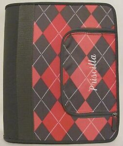 New Pb Teen Personalized Embroidered Priscilla Binder Pink Gray Zippered Coupon